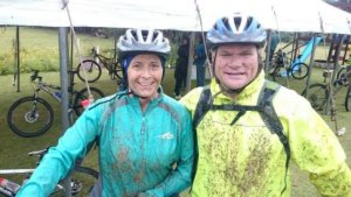 DIRTY BUSINESS : Don and Denny Emslie look a muddy mess after last year's Kwelera 2 Kei Mouth (K2K) event. It is almost time again for the 72km event. With the help of the generous sponsors they were able to hand over a cheque of R60 000 to African Angels last year and they are hoping to raise another R60 000 and more this year.