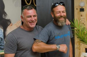 TOUGH TEAM: Experienced oarsman  Stuart   Connacher, left,  will complete the Atlantic Challenge for the third consecutive year but this time alongside long-time friend Charl Gale, right, from East London, and Wayne Johnson, who resides in Antigua, where the race ends Picture: MARCEL HOLST