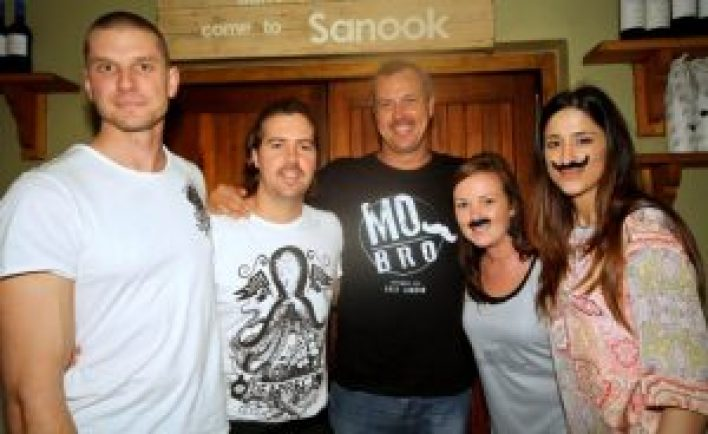 BIG CONTRIBUTOR: East Londoners are again asked to join in the Movember movement. Men are encouraged to grow their 'mo' and women to become a MoSista. A MoSista launch party will be held at Cantina & Craft on Saturday. Movember EL team members at last year's party are, from left, Jono Bruton, James Hogg, Pierre de Villiers, Jessica Voigt and Laila Conlon – just some of those who enjoyed the night Picture: FILE