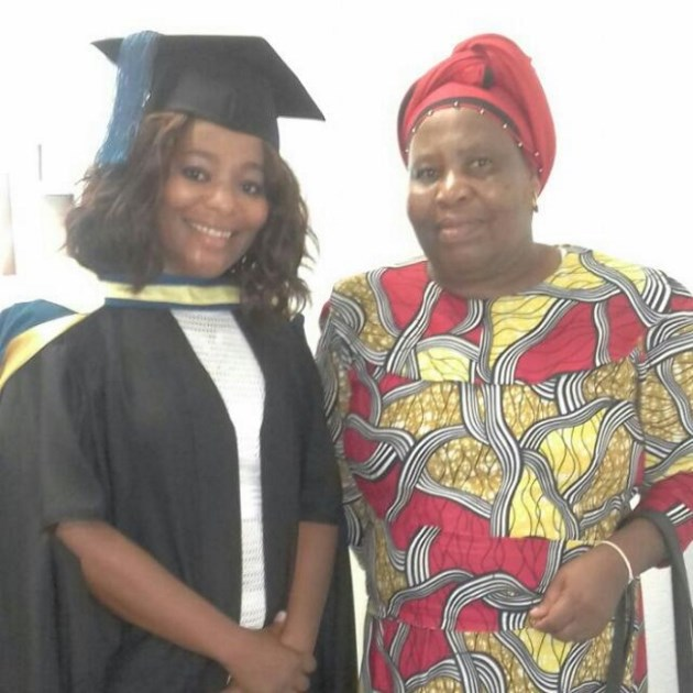 PROUD DAY: The department of correctional services Amathole management area communications manager, Sivuyisiwe Matanga, of Dimbaza in King William's Town, graduated with her Master of Arts in media studies at the Indoor Sports Centre on the Nelson Mandela Metropolitan University's South Campus last week. Her mother, Nokwanela Matanga, right, was very proud of Sivu's achievement