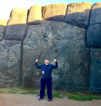 Wayne in front of the largest bolder at Sacsayhuaman Fortress, Cuzco, Peru - June 16, 2017