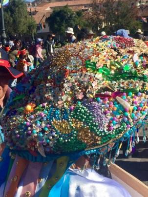 Peruvian woman's celebration hat