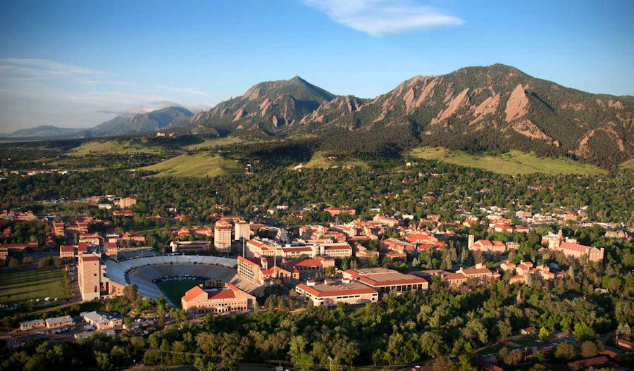 boulder, colorado aerial view