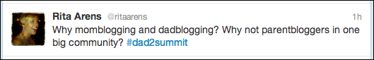 @ritaarens on momblog, dadblog and parentblog