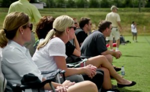 sports parents on the sidelines