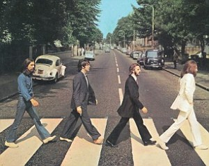 BEATLES ABBEY ROAD album cover from October 1969 Courtesy EMI Apple