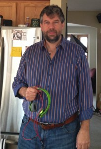 Dave Taylor, holding Beats headphones