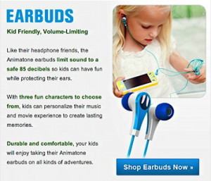 iFrogz Animatone Earbuds for Kids