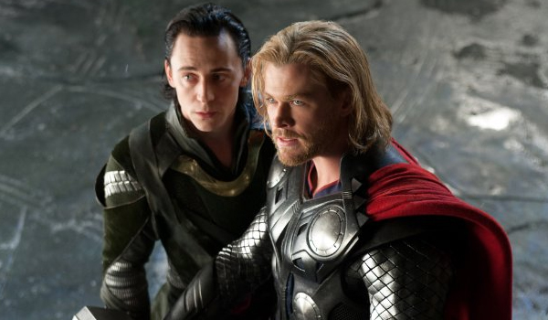 "Loki (Tom Hiddleston) and Thor (Chris Hemsworth) from ""Thor: The Dark World"""