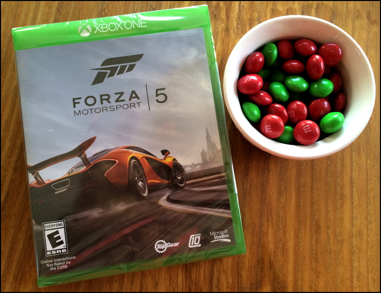 Forza Motorsport 5 for Xbox One and Peanut Butter M&M's