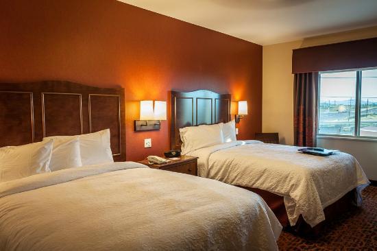 bedroom - two queen beds - at the Hampton Inn