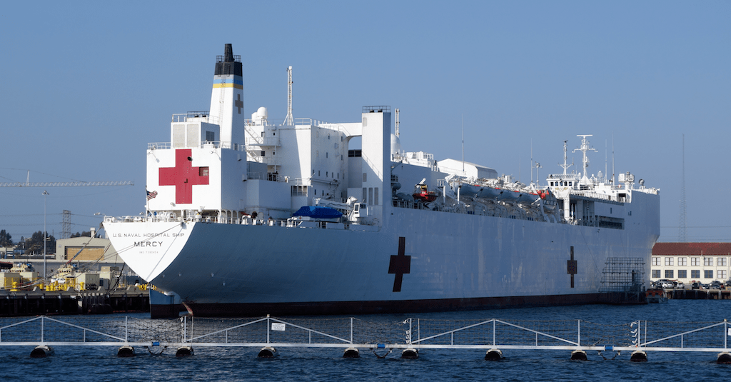 USNS Mercy Floating Hospital Ship