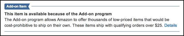 amazon add-on program