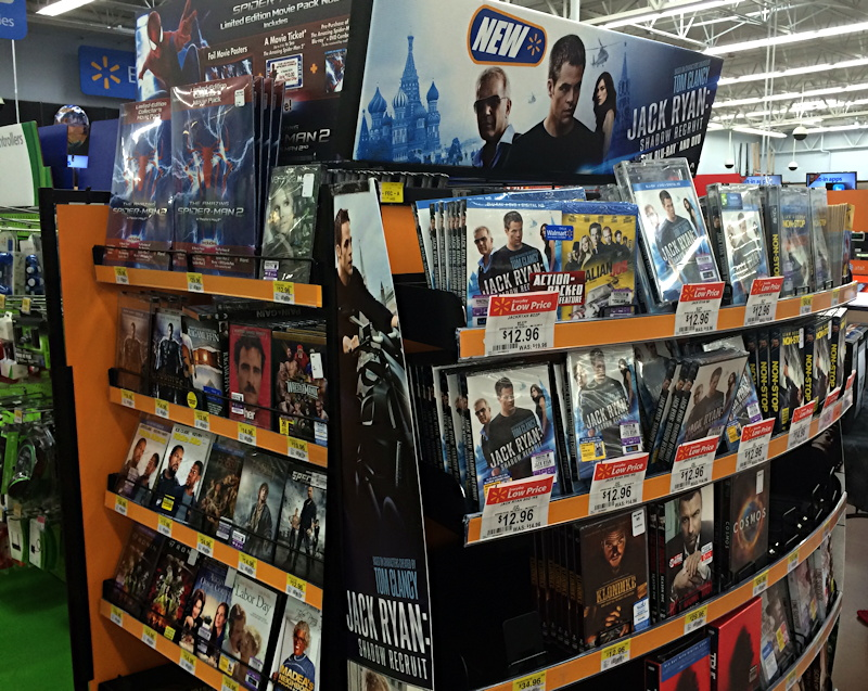 jack ryan shadow recruit display at walmart