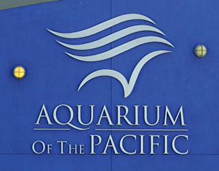 aquarium of the pacific, long beach, logo sign