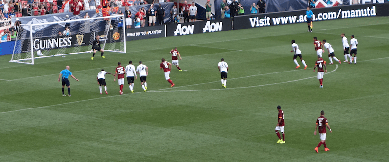 penalty kick gains goal #2 for roma