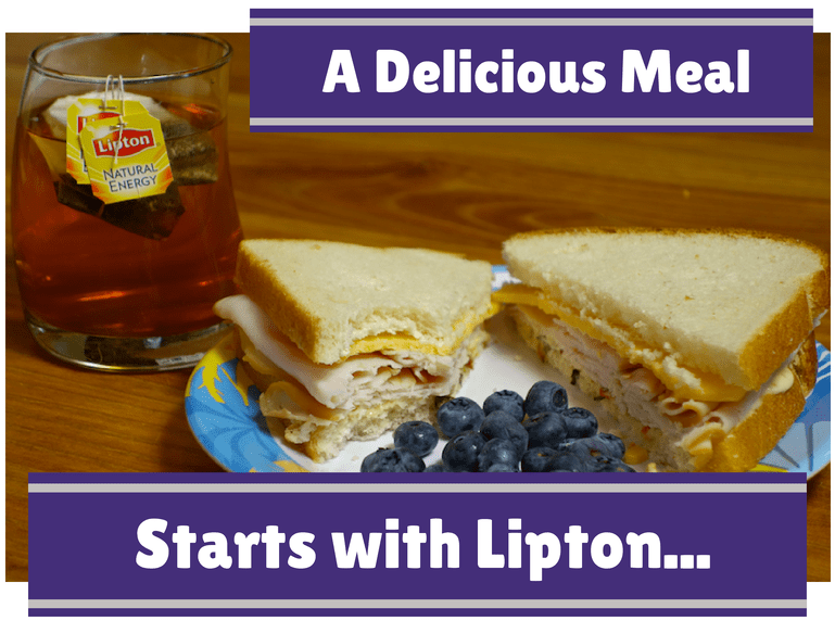 a delicious meal with lipton