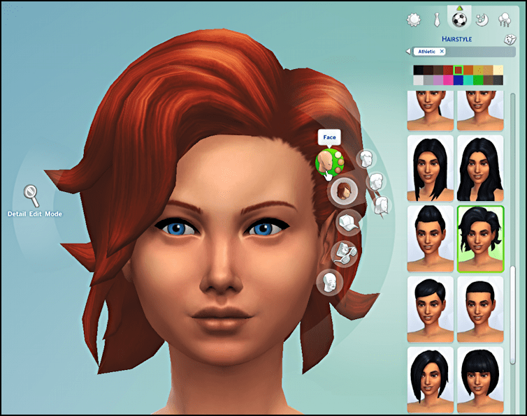 new face? new hairstyle? Just a click away for your EA Sim