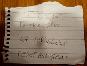 no ticket, no show