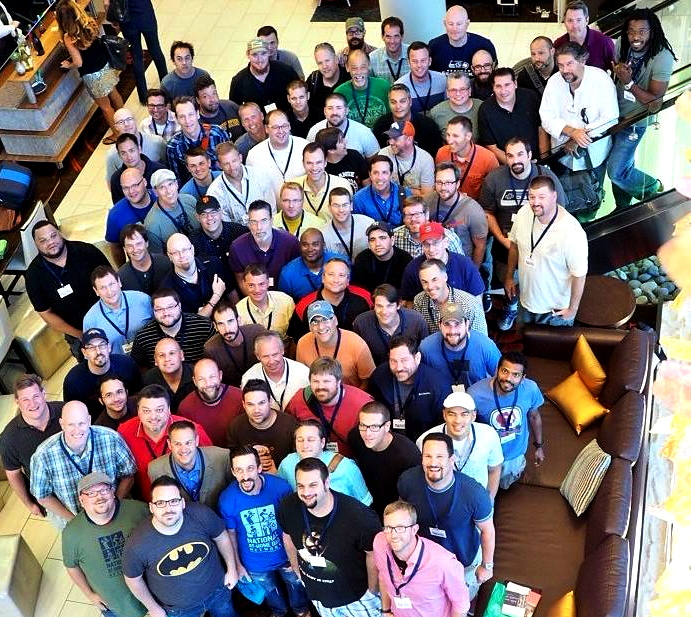 at-home dad convention attendees