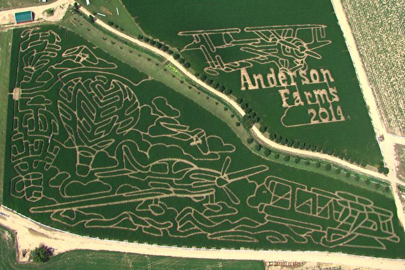 anderson farms corn maze 2014