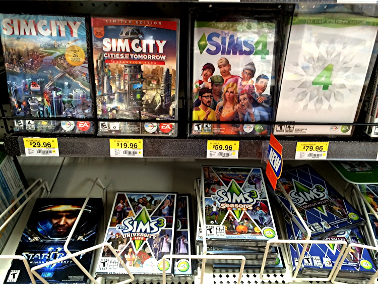 shelf display the sims 4 limited edition walmart