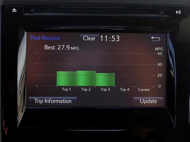 2015 toyota camry se mileage