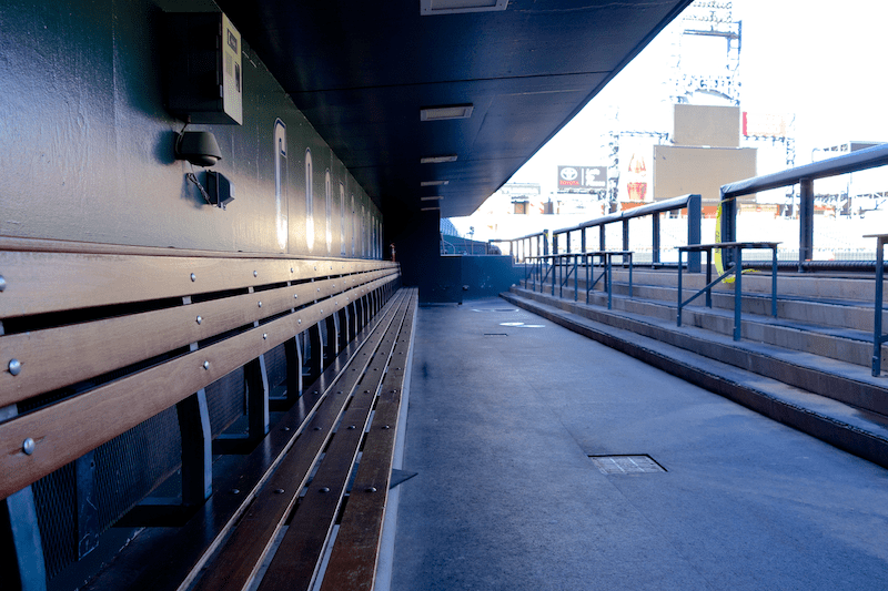 dugout at coors field
