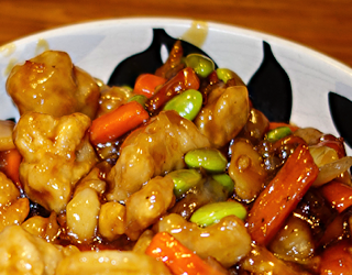 schwan's food - orange chicken skillet meal