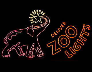 denver zoo, zoo lights, 2014