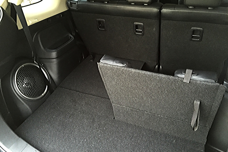 back split row third seat and subwoofer