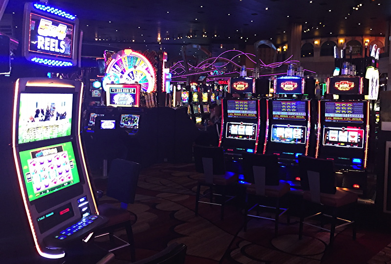 slot machines, the never-ending flashing lights and noise