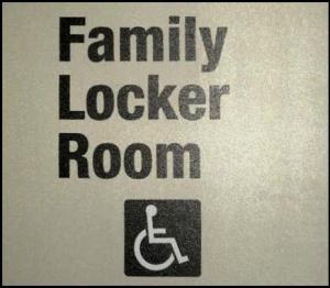 family locker room sign