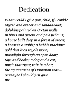 dedication from book glad to be dad