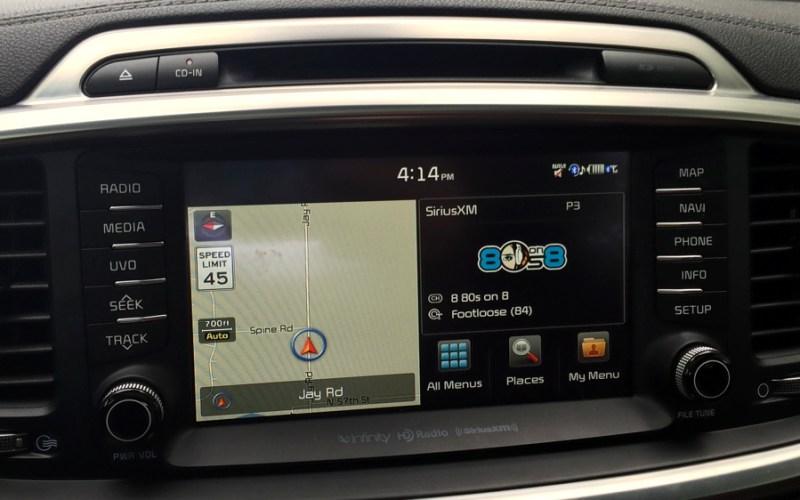 split screen home mode on navigation / entertainment console 2016 kia sorento