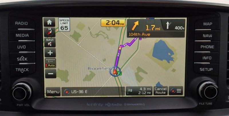 console navigation system, 2016 kia sorrento