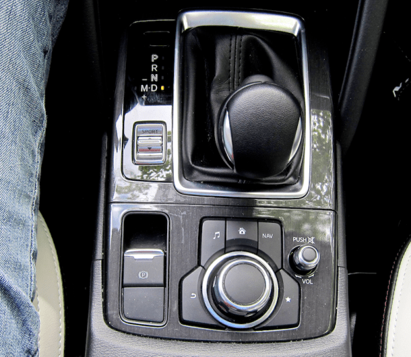 center console controls and layout