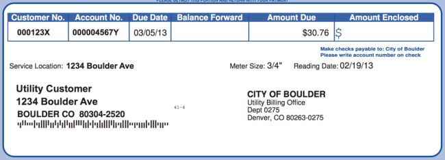 city of boulder faux mock power bill sample demo