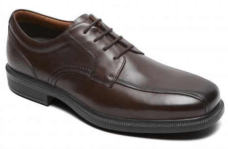 rockport apron toed oxford, brown