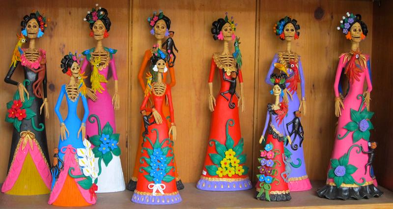 dia de las muertas dolls women sculptures, santa fe