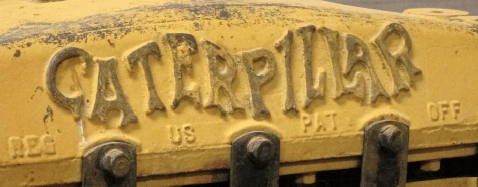 original caterpillar logo antique tractor