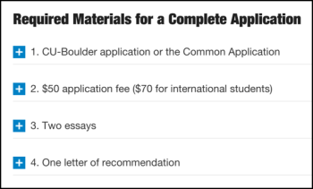 cu boulder application