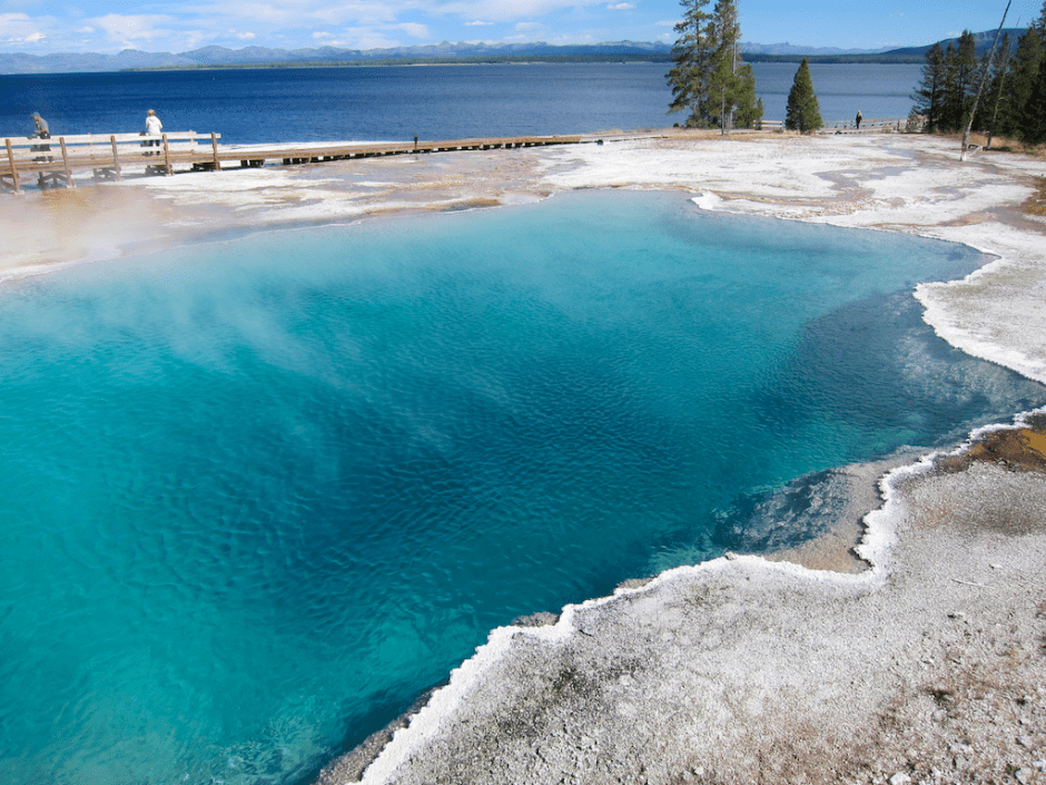 west thumb mineral spring, yellowstone