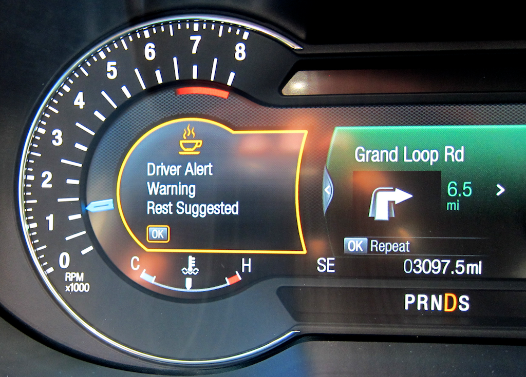 drowsy lane drifting indicator, 2016 ford explorer platinum