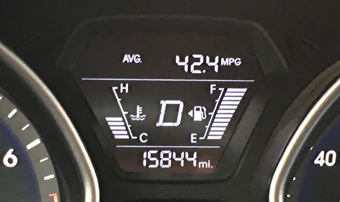 great mpg on hyundai elantra 2015