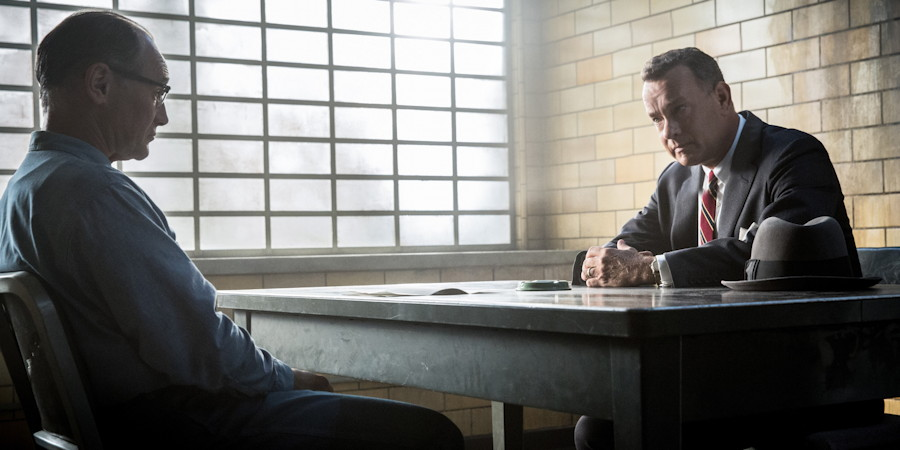 "Donovan (Tom Hanks) meets with Abel (Mark Rylance), from ""Bridge of Spies"""