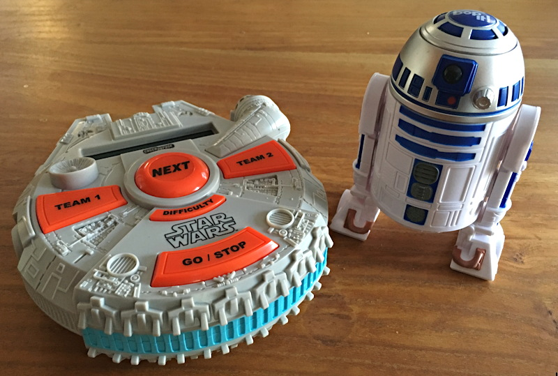 electronic catch phrase star wars edition and bop it star wars r2-d2 edition hasbro