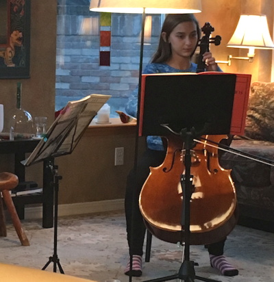 young girl playing cello