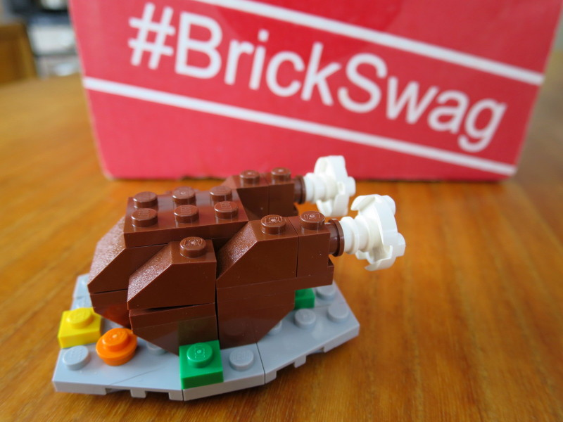 lego brick builders club - brickswag - thanksgiving turkey project DONE!