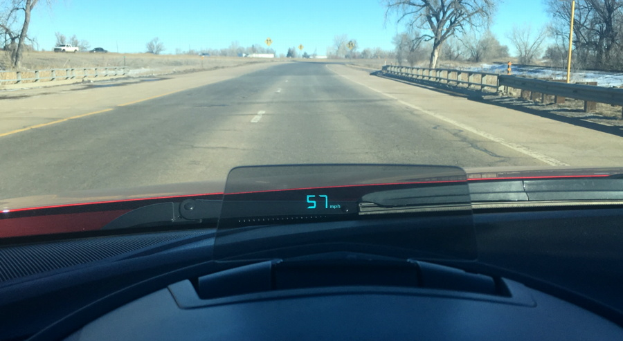 2016 mazda 3 heads up / pop up speed mph display